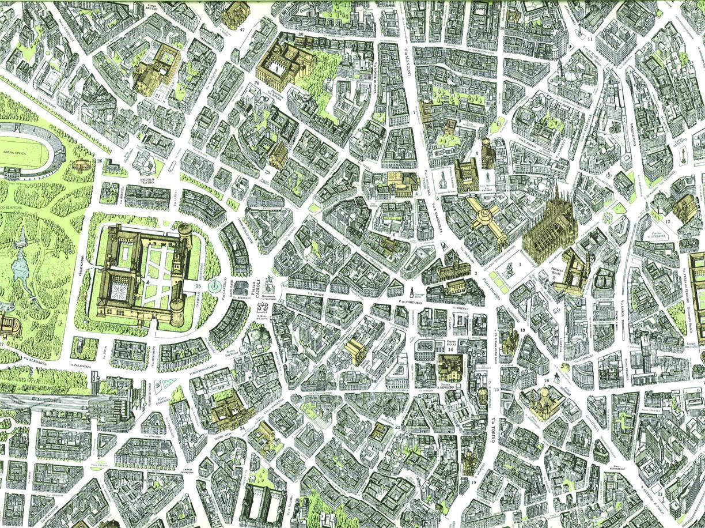 Milano expo la citt e il sito dall alto nella mappa di for Fare la mia planimetria