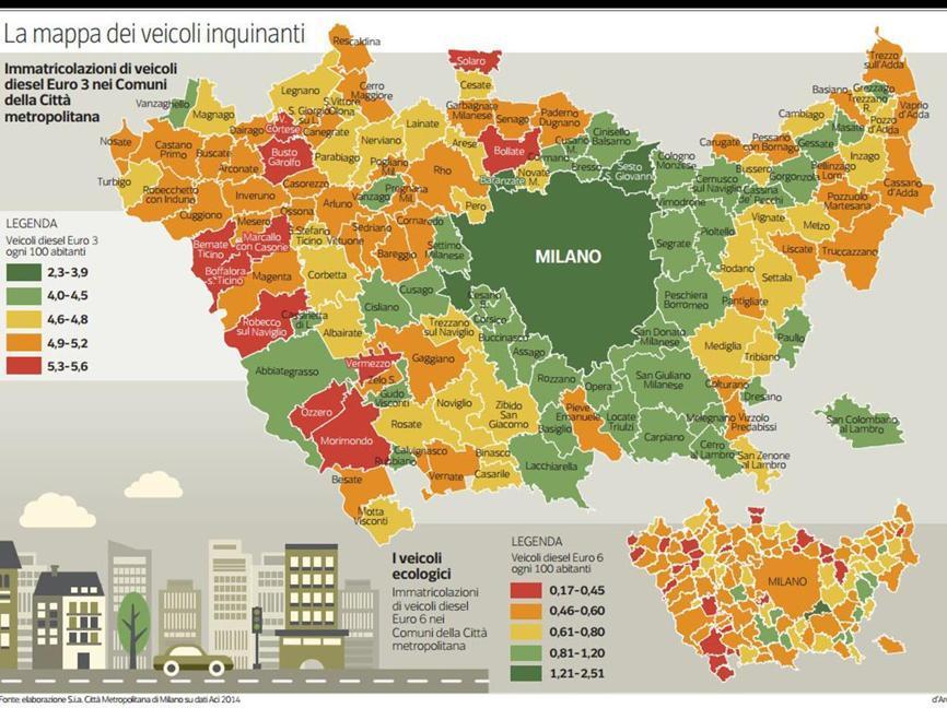 La mappa dei veicoli inquinanti for Meda provincia di
