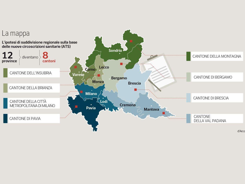 La Mappa Della Lombardia Corriere It
