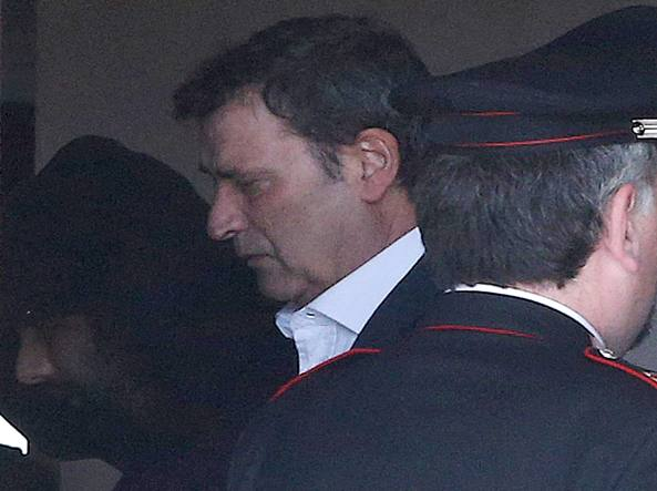 Claudio Giardiello  il giorno dell'arresto (Ansa)