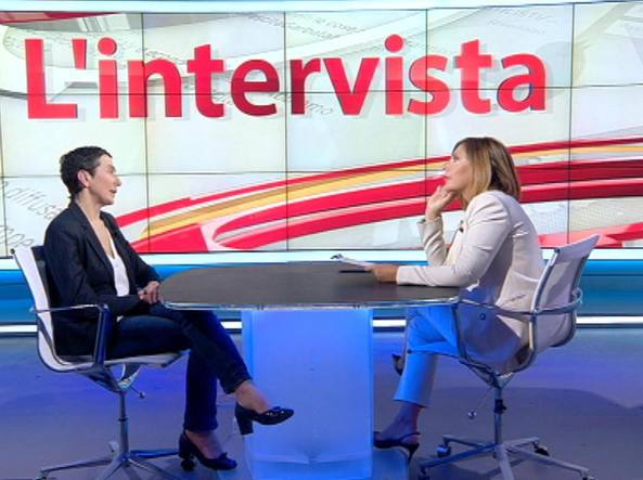 Francesca Balzani a «L'intervista» di Maria Latella (Fotogramma)
