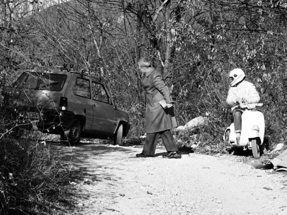 L'auto di Lidia Macchi, uccisa a Cittiglio il 15 gennaio 1987, sul luogo del delitto (Newpress)