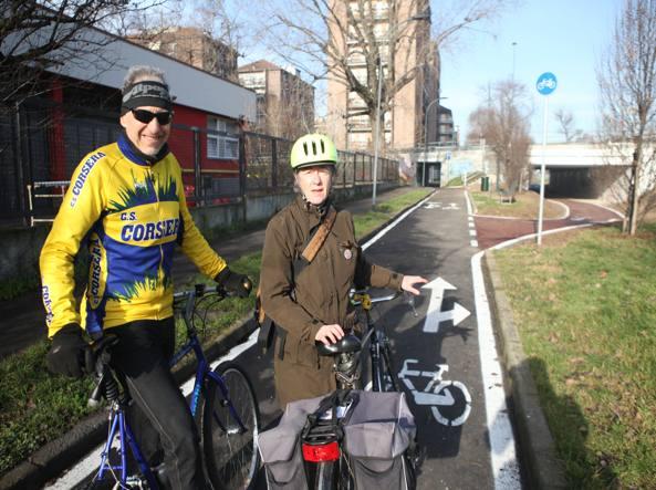 Ciclobby e il Corriere hanno provato la nuova pista ciclabile Milano-Novate (Vaglia)