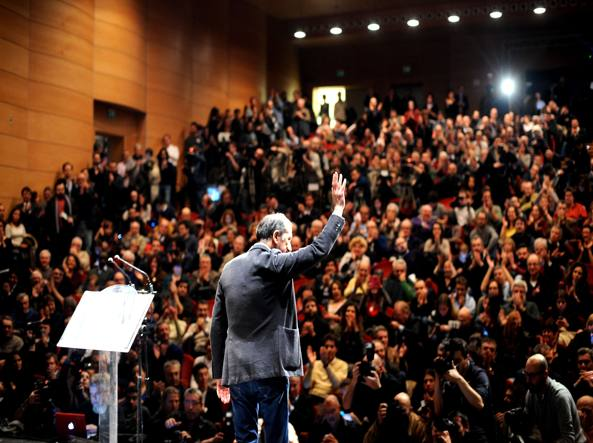 Giuseppe Sala ringrazia i suoi sostenitori alle primarie del centrosinistra