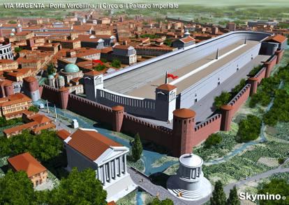 Metropolitana durante gli scavi m4 riaffiorano le terme - Corso di porta romana 16 milano ...