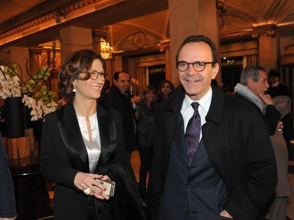 Il candidato del centrodestra Stefano Parisi con Mariastella Gelmini (Newpress)