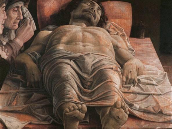 Il Cristo morto di Andrea Mantegna custodito alla Pinacoteca di Brera