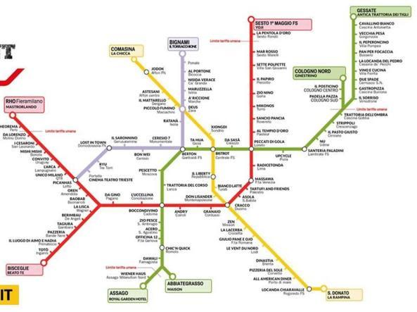 Al ristorante con il metr la mappa cult delle fermate for Porta venezia metro