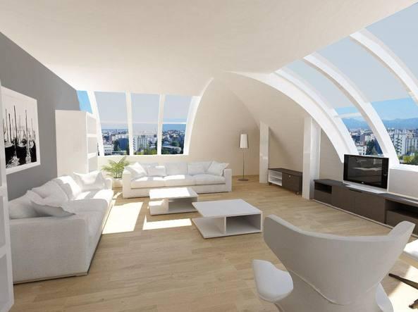«Un'astronave» nel Quadrilatero: 900 metri quadrati ipertecnologici in vendita a 12,5 milioni di euro (foto Tirelli & partners)