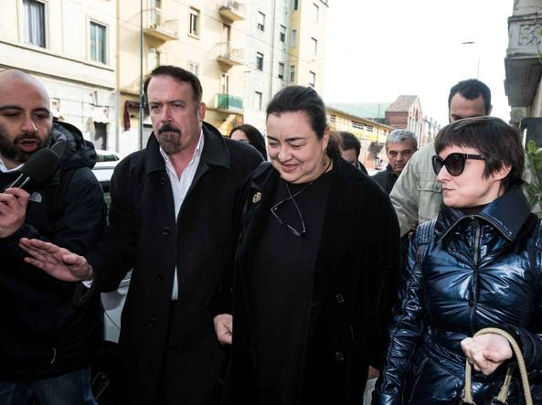 Patrizia Bedori prima della riunione nella quale ha annunciato il ritiro (Lapresse)