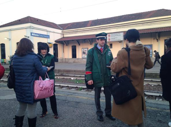 L'ad di Trenord Cinzia Farisè alla stazione di Porta Genova