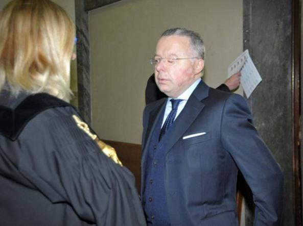Antonello Mele durante l'udienza in tribunale