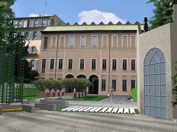 Palazzo Citterio il cui acquisto, negli anni Settanta, diede il via al progetto della Grande Brera