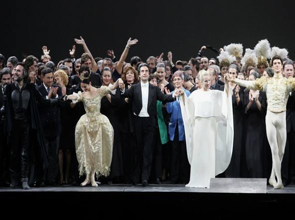Riccardo Muti alla Scala nel 2004 (Afp)
