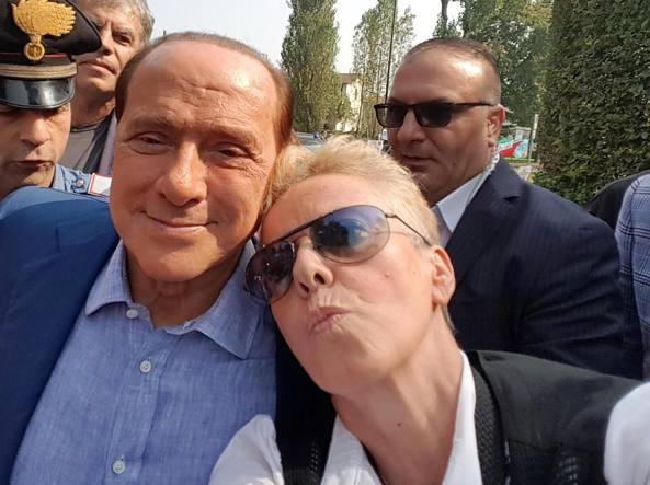 Berlusconi nel giorno del suo 80esimo compleanno (foto Cavicchi)
