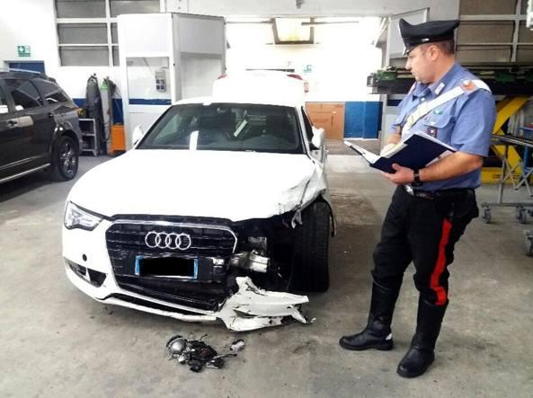 L'Audi presa dai malviventi (foto Rastelli)