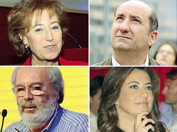 In senso orario: Letizia Moratti, Antonio Albanese, Cristina Scocchia e Giancarlo Cesana