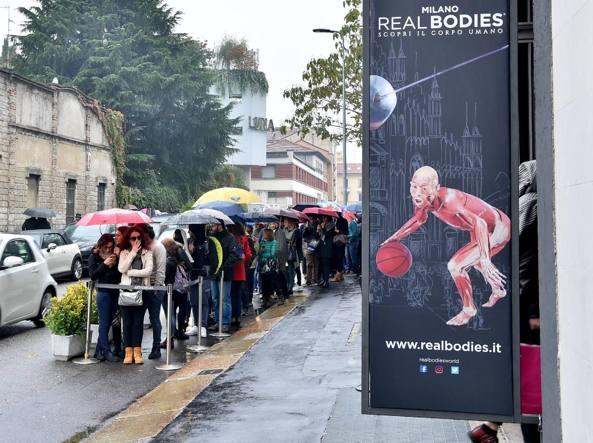 Milano, mostra Real Bodies: 63 svenimenti in 25 giorni!