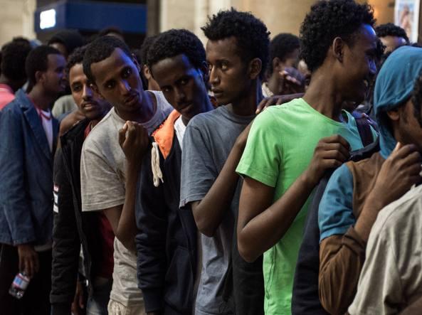 Migranti, presidio Lega Nord a Milano
