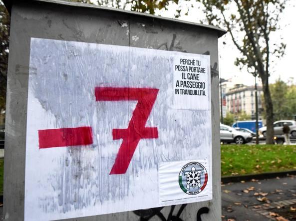 Manifestazione contro migranti caserma Montello Milano, presenti Lega Nord e Fdl