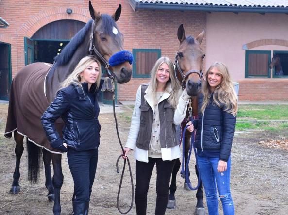 Da sinistra Barbara Morali, Ilaria Guiducci e Nicole Berlusconi