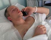 Cristian Movio in ospedale