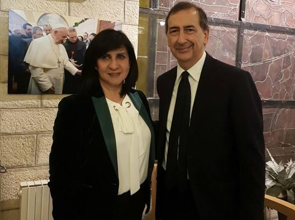 Sala visita sindaci Betlemme e Tel Aviv
