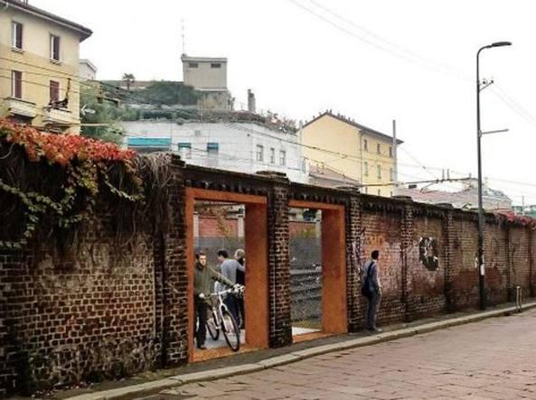 Il rendering del passaggio pedonale di Porta Genova (dal profilo Facebook del Comune)