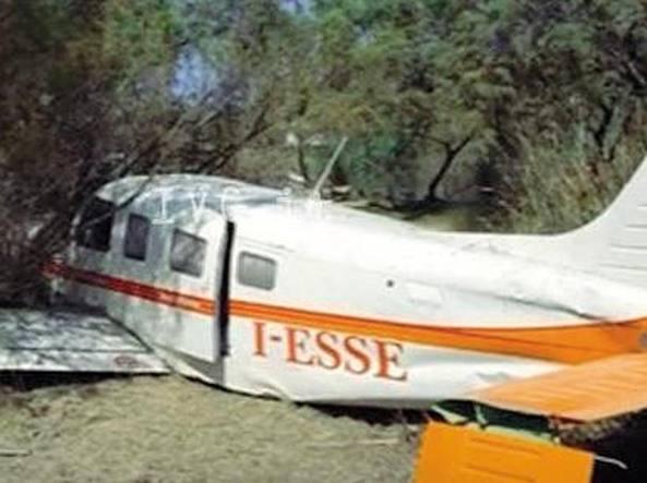 L'aereo da turismo del manager milanese dopo l'incidente in Albania