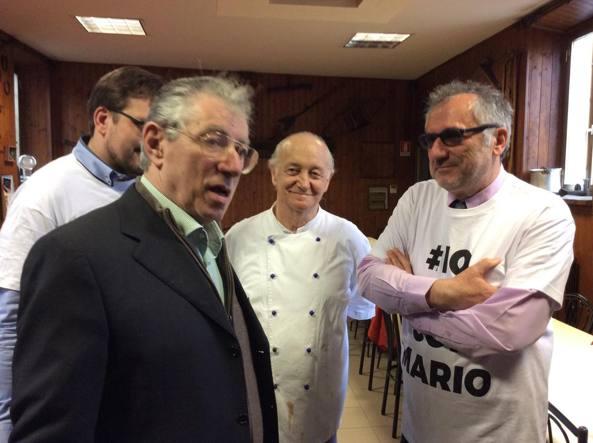 Umberto Bossi con Mario Cattaneo