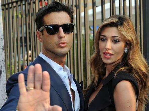 Fabrizio Corona e Belen Rodriguez nel 2011 (Ansa)
