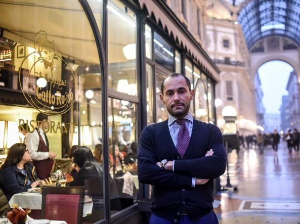 Andrea Loiacono, titolare del ristorante «La Locanda del Gatto Rosso» (LaPresse)