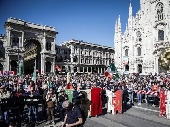 Aprile, a Milano insieme all'Anpi sfila la Brigata Ebraica ea Roma no