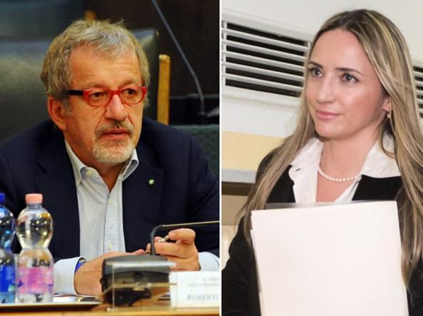 Roberto Maroni e Maria Grazia Paturzo