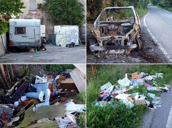 Gli insediamenti abusivi sull'area di via San Dionigi 107/109 (LaPresse)