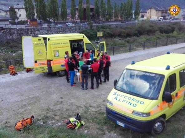 Valtellina, incidente sul lavoro: un morto