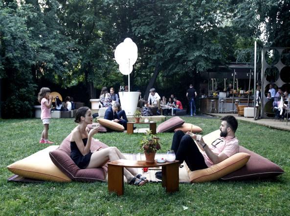 Il giardino del ristorante 4Cento