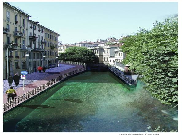 Un rendering di come potrebbe essere il Ponte delle Gabelle
