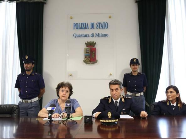 La conferenza stampa con il procuratore di Monza Luisa Zanetti e il comandante Angelo Re (Fotogramma)