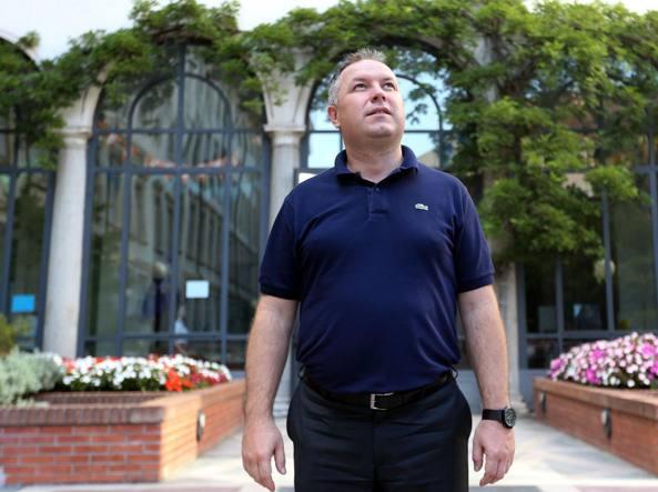 Don Alberto Torriani, 46 anni, è il nuovo rettore del Collegio San Carlo (LaPresse)