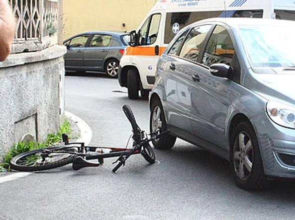 La bicicletta del 12enne (foto dal sito merateonline.it)