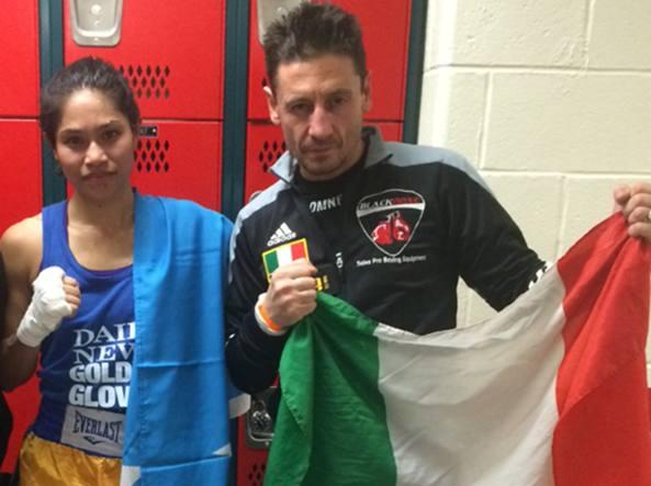 Andrea Galbiati con la sua allieva Jennifer Chieng