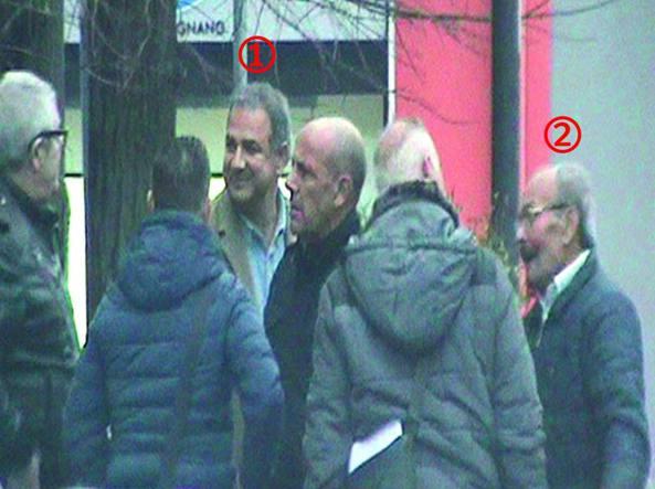 Il 7 novembre 2015 a Limbiate si celebrano i funerali di Francesco Zumbo. I carabinieri di Milano filmano tra i partecipanti l'attuale assessore di Senago Gabriele Vitalone (1). Insieme a lui anche Emilio Lamarmora (2), padre dei fratelli Giovanni e Antonino. Quest'ultimo condannato come capolocale di Limbiate