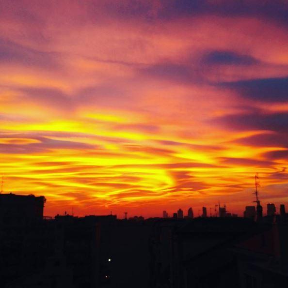 Tramonto milano oggi foto pi belle scie e dune rosso for Milano re immobili di prestigio