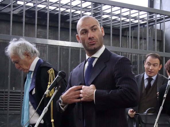 Riccardo Bossi in tribunale in una foto d'archivio (Ansa)