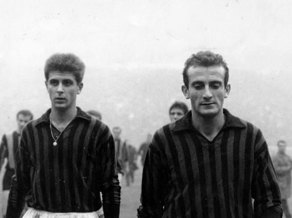 Giovanni Lodetti (a destra) con Gianni Rivera