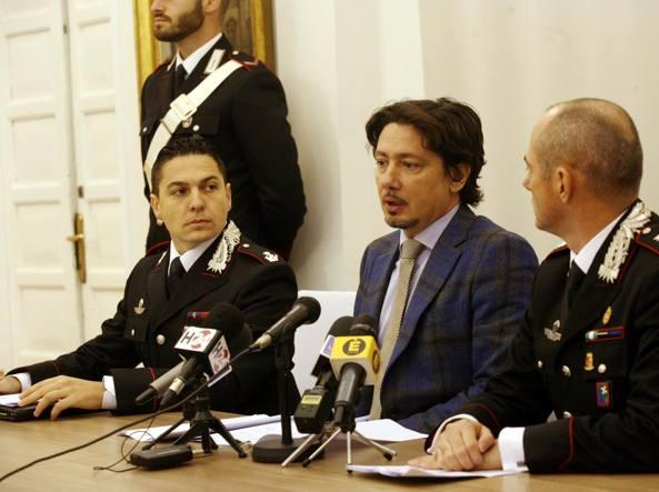 La conferenza stampa con il pm Gianluca Prisco dopo l'arresto (LaPresse)