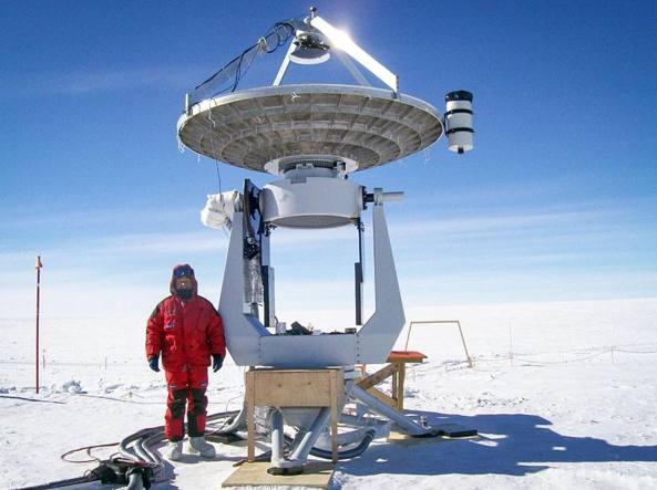 Francesco Cavaliere, 54 anni, durante la spedizione in Antartide