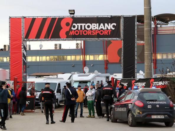 La pista internazionale da motocross di Ottobiano in provincia di Pavia. Solo in trada serata confessano i due piloti che hanno investito lo steward (foto Milani)