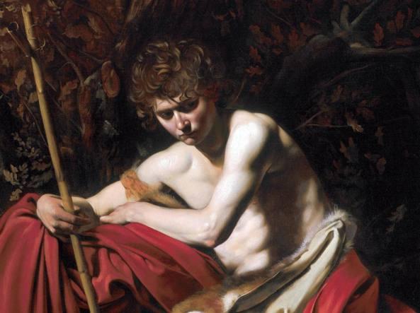 Olio su tela. «San Giovanni Battista» di Michelangelo Merisi, il vero nome di Caravaggio (Ansa)
